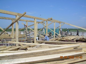 Ararat New Roof soport Framing