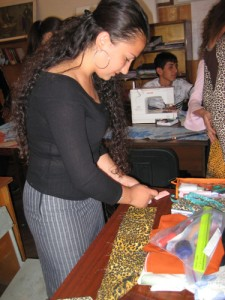 student-working-on-her-project-in-armavir