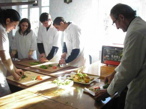 Gyumri 2 VHS  students  practicing  in their new culinary cooking  workshop