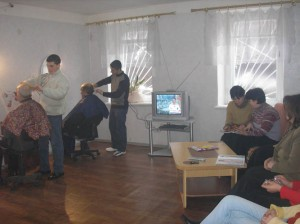 Gyumri  2 VHS beautician workshop with new TV and DVD player