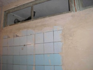 Gyumri  2 VHS restroom wall renovation