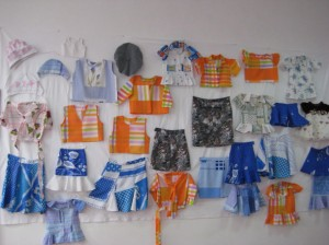 Nice display by sewing desing student from Maralik VHS