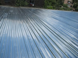 Vanadzor VHS  roof with new zinc sheets 591
