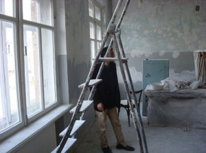 Vanadzor VHS classroom during remodaling 219