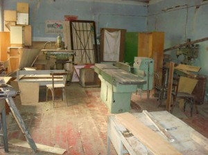 Vanadzor VHS  old carpentry workshop which needs total remodeling and modernized equipments