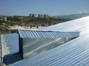 Vanadzor VHS  new remodeled roof  of main building