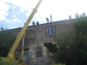Yghegnadzor VHS  during remodeling of roof