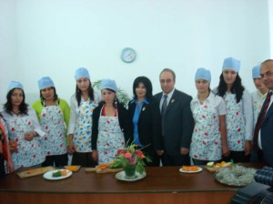 Yeghegnadzor VHS culinary cooking student with AAEF President and Vice president and AAEF Armenian  branch Director