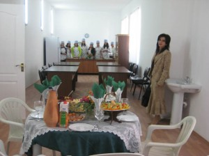 Yeghegnadzor culinary cooking  students and the  Teacher prepared reception for AAEF in their new workshop
